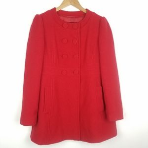 French Connection | Red Wool Coat Long